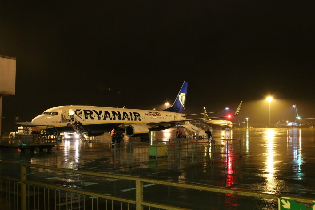 Ryanair airplane in London Stansted